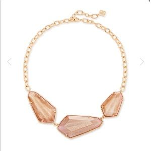 Kendra Scott Violet Rose Gold statement necklace